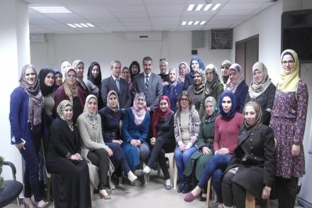 ورشة لموظفات ديوان الرقابة المالية والإدارية في السلطة الفلسطينية بمناسبة يوم المرأة